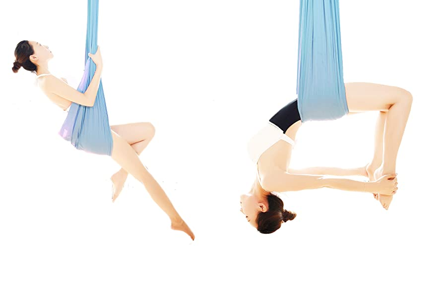 Amazon.com: Wellsem - Hamaca de lujo para yoga, L:5.5 yardas ...