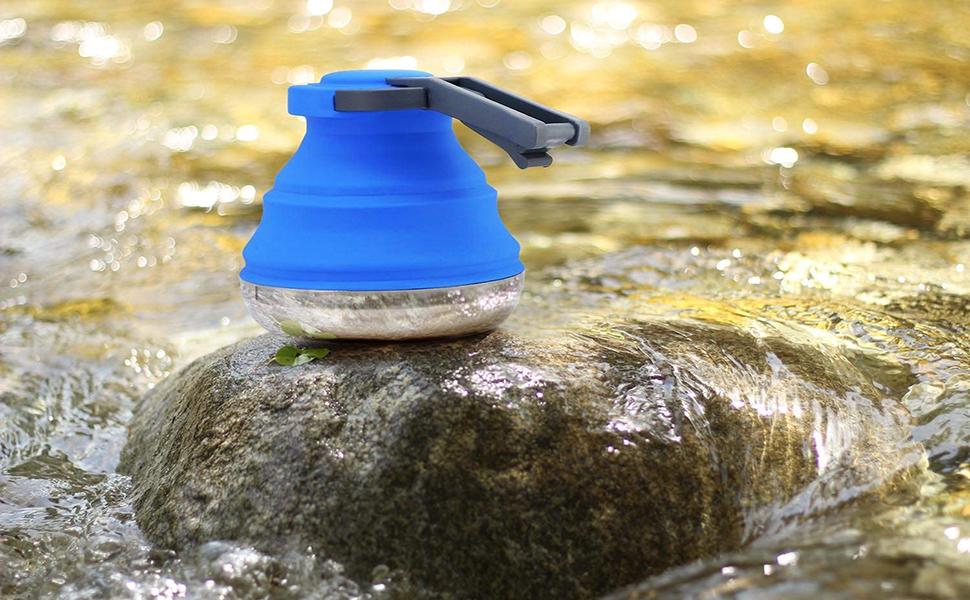 Collapsible camping equipment lightweight kettle tea pot