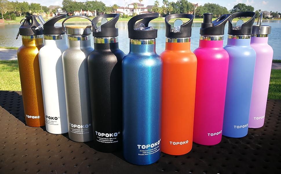 topoko 25 oz double wall water bottle