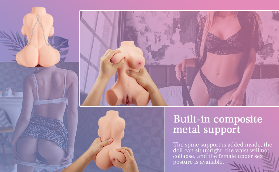 sex toy with metal support
