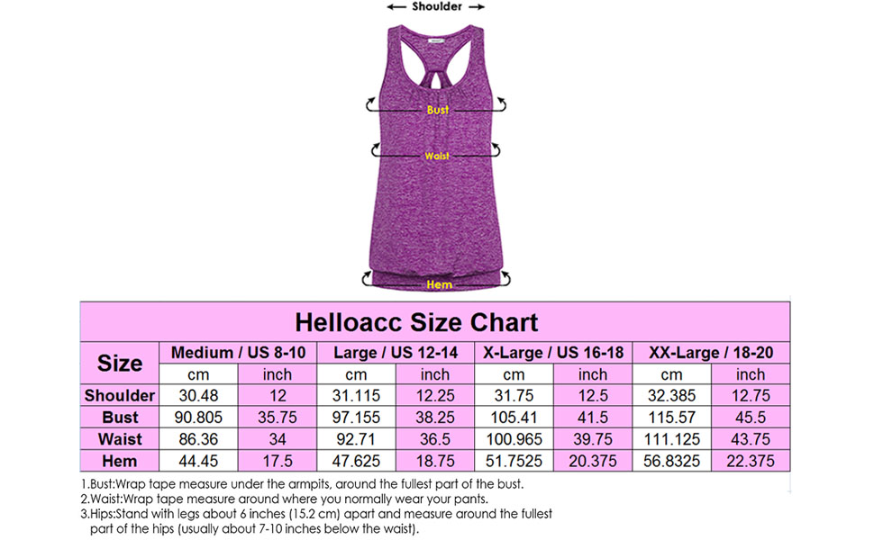 Helloacc Womens Scoop Neck Sleeveless Loose Fit Sport Racerback Workout  Tank Top