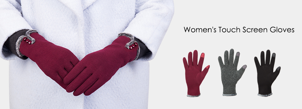 53399c116 Amazon.com: GLOUE Women's Touch Screen Gloves Texting Lined Cashmere ...
