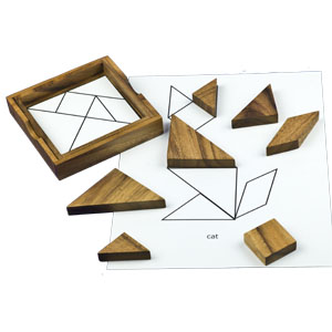 Wooden Tangram Engaging Activity for Dementia and Alzheimer's