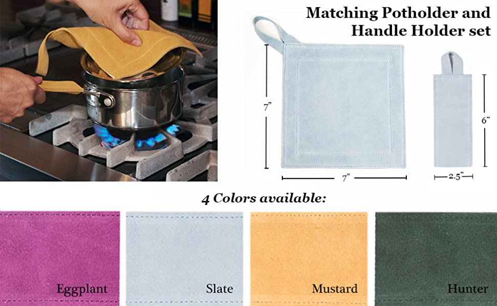 """POT HOLDERS SET OF TWO--ASSORTED COLORS AVAILABLE -7/"""" X 7/"""""""