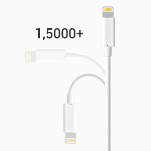 lightning cable white