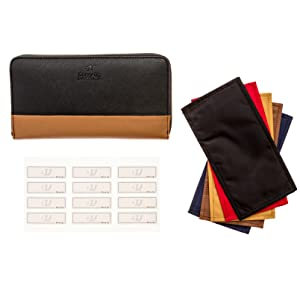 labels with wallet envelopes