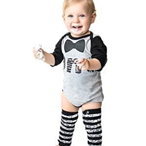 24ca50e7a Amazon.com: First Birthday Outfit Boy 1st Onesie B-Day – Bow Tie ...