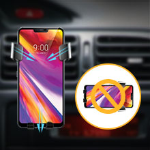 Linkstyle Wireless Car Charger Mount Samsung Galaxy S10 S9 S8 Note 9 Air Vent Phone Holder Wireless Charger Auto Clamping Fast Charging Cradle Compatible with iPhone Xs XR X 8 8 Plus