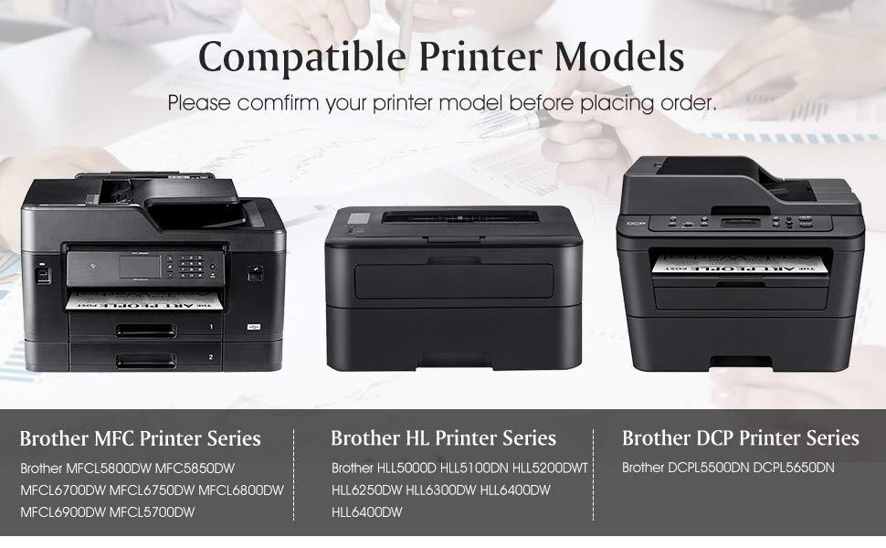 4 Black TN850 Toner Compatible for Brother TN-850 MFC-L5700DW HL-L5000D L5200DWT