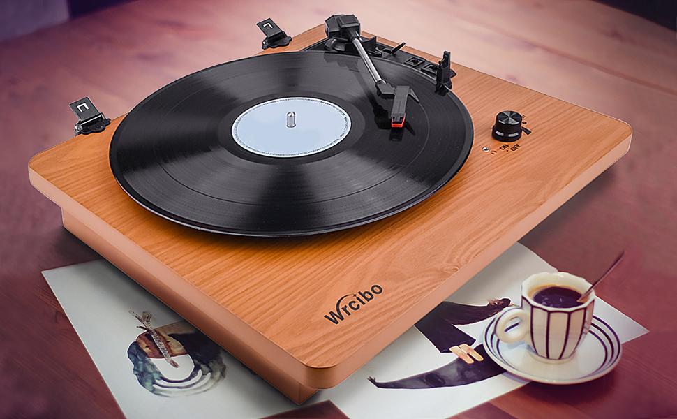 Amazon.com: Wrcibo Record Player, Vintage Turntable 3-Speed ...
