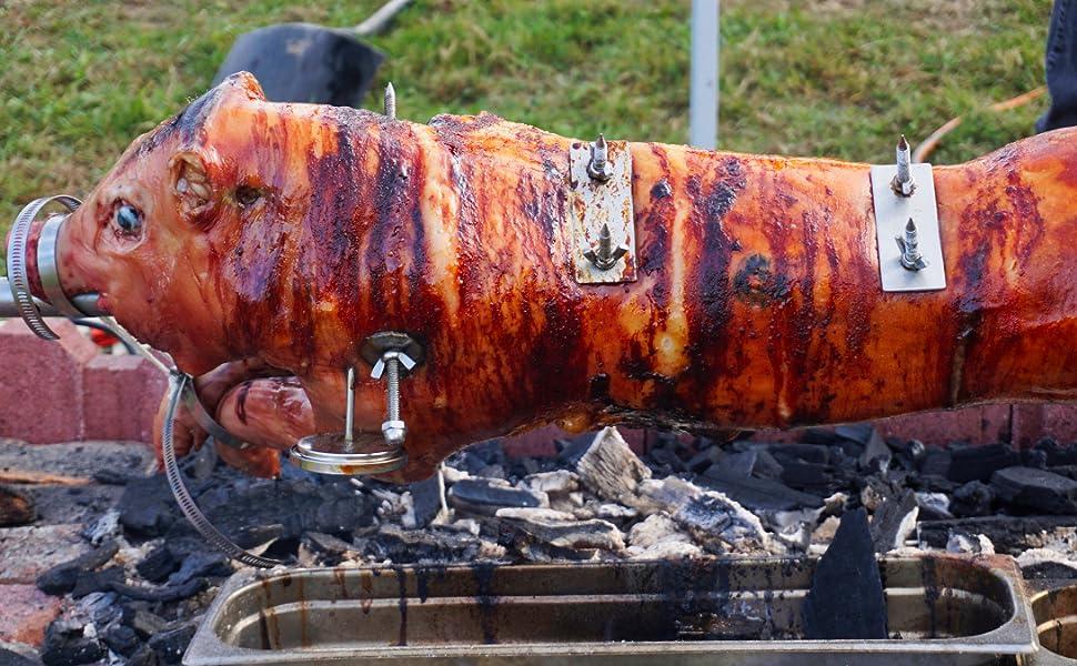 Tuin en terras Electric BBQ Rotisserie Motor Stainless Steel