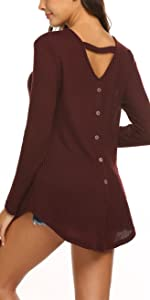 Back Button Tunic Top