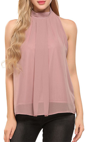Awesome Boohoo Womens Ladies Tori High Neck Sleeveless Viscose Crop Top BST10 | EBay
