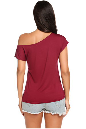 5a0c3cbb6b6ee Halife Women s Casual Off Shoulder Loose Sexy Short Sleeveless Blouse Tops  T Shirt. Occassions  this Unique Off The Shoulder Tank Tops Well With  Leggings ...