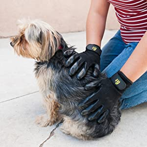 professional grooming tool deshedding tools glove grooming hand on groom gloves for cat dog horse