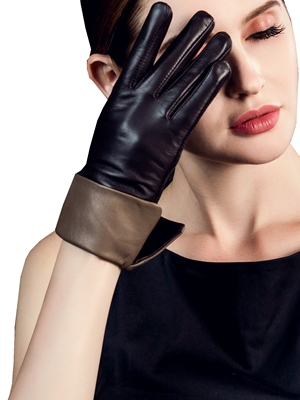 womens leather gloves winter driving dress black brown touchscreen