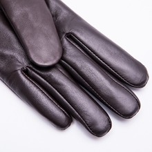 womens leather gloves winter driving dress wool lined touchscreen