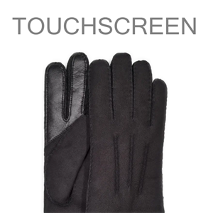 touchscreen gloves shearling warm fur wool lined driving dress brown black fur gifts