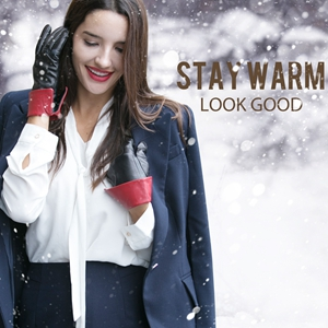 warm your hand sheepskin wool lined dress fahsion xmas gifts driving black red