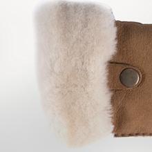 men winter gloves ugg shearling mittens warm brown driving black fashion dress leather sheepskin