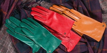 womens leather gloves green red xmas gifts driving dress touchscreen fashion