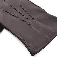 men leather gloves deerskin dress black brown driving winter warm lined fashion sales deal