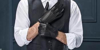 men leather gloves black deerskin dress warm lined winter driving fashion sales deals black brown