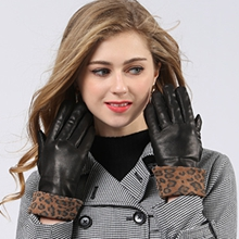womens leather gloves red fahsion xmas gifts driving dress black