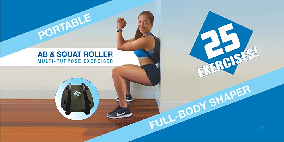 486d89b18c32 TWENTY-FIVE EXERCISES are possible on the versatile SmithShaper Ab   Squat  Roller Exerciser to BUILD MUSCLE