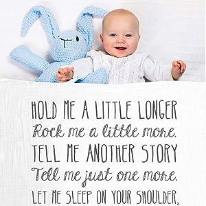 Amazon.com: Baby Swaddle Blanket with Quote, Unique ...