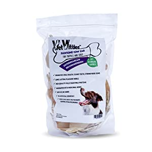 5 Pack VetVittles Pawsome Cow Ears for Puppies and Dogs 100/% Natural Cow Ears Treats for Dogs