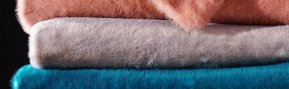 fox faux fur throw blanket - de moocci