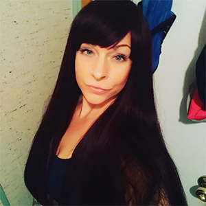 black wig with hair bangs