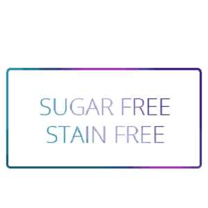 sugar free and stain free