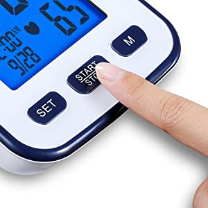 Automatic Upper Arm Blood Pressure Monitor, Extra Large Digital Screen, Easy to Use
