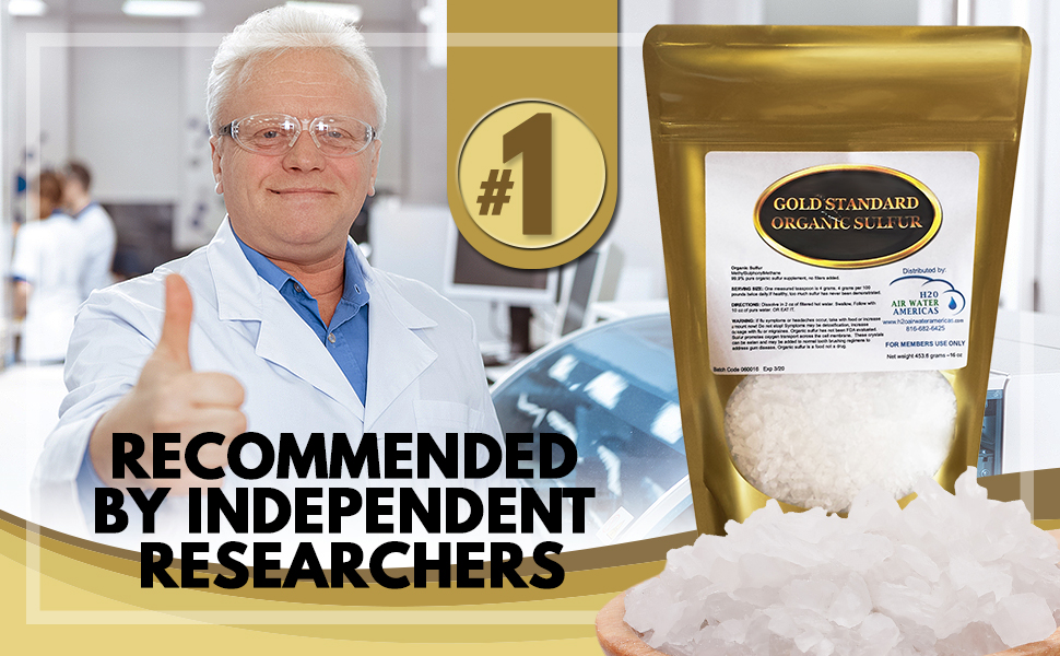 Gold Standard Organic Sulfur Crystals 2lb - 99 9% Pure MSM Crystals -  Largest Granular Flakes