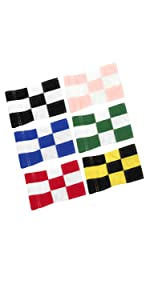 checkered putting green flags