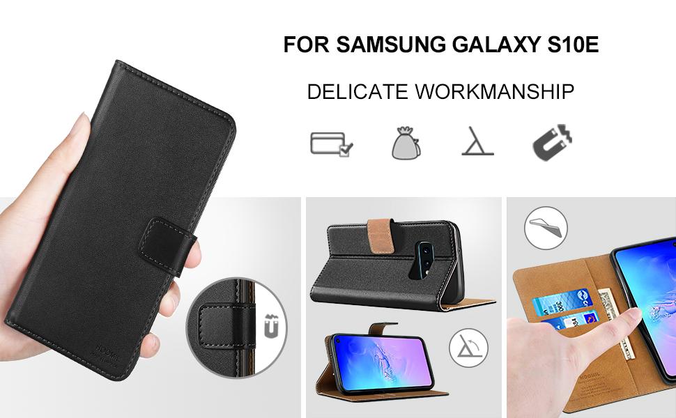 Samsung Galaxy S10 E Case,Premium Leather Flip Wallet Phone Case Cover