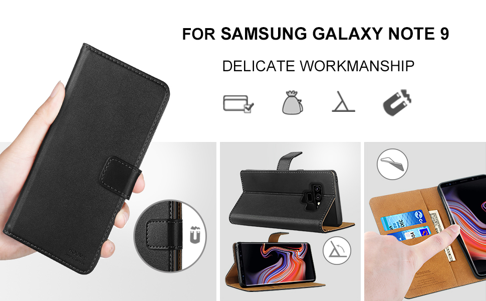 Samsung Galaxy Note 9 Case,Premium Leather Flip Wallet Phone Case Cover