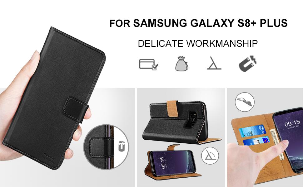 Samsung Galaxy S8 Plus Case,Premium Leather Flip Wallet Phone Case Cover