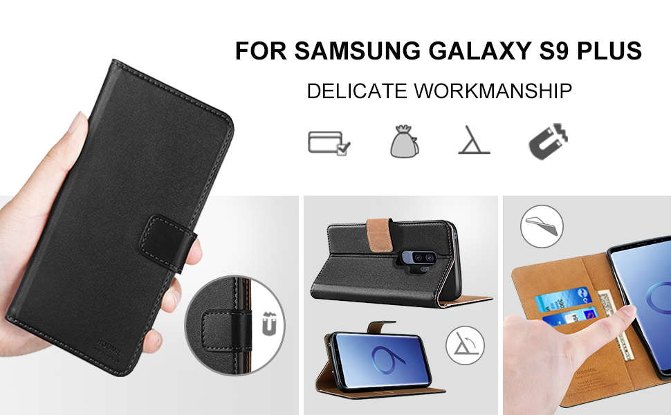 Samsung Galaxy S9 Plus Case,Premium Leather Flip Wallet Phone Case Cover