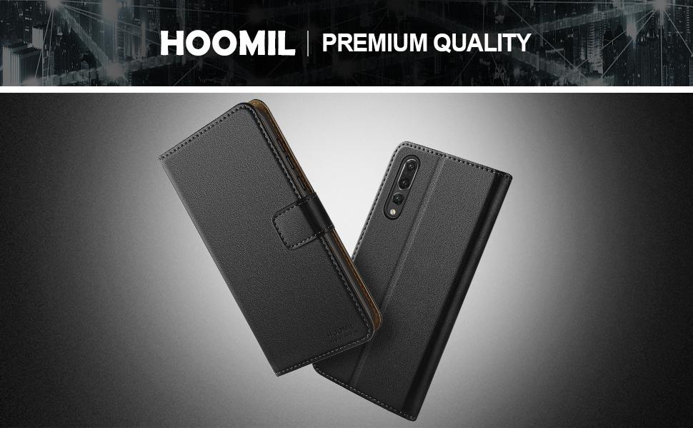 Huawei P20 Pro Case,Premium Leather Flip Wallet Phone Case Cover (Black)