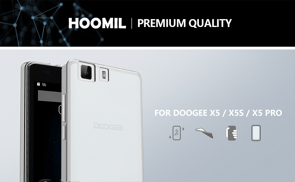 Doogee X5 / X5 Pro Crystal Case Soft TPU Slim Protective Clear Case