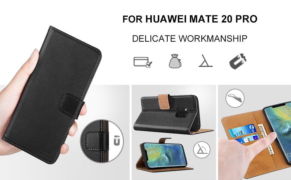 Huawei Mate 20 Pro Case Cover Premium Leather Flip Wallet Phone Case Cover-2