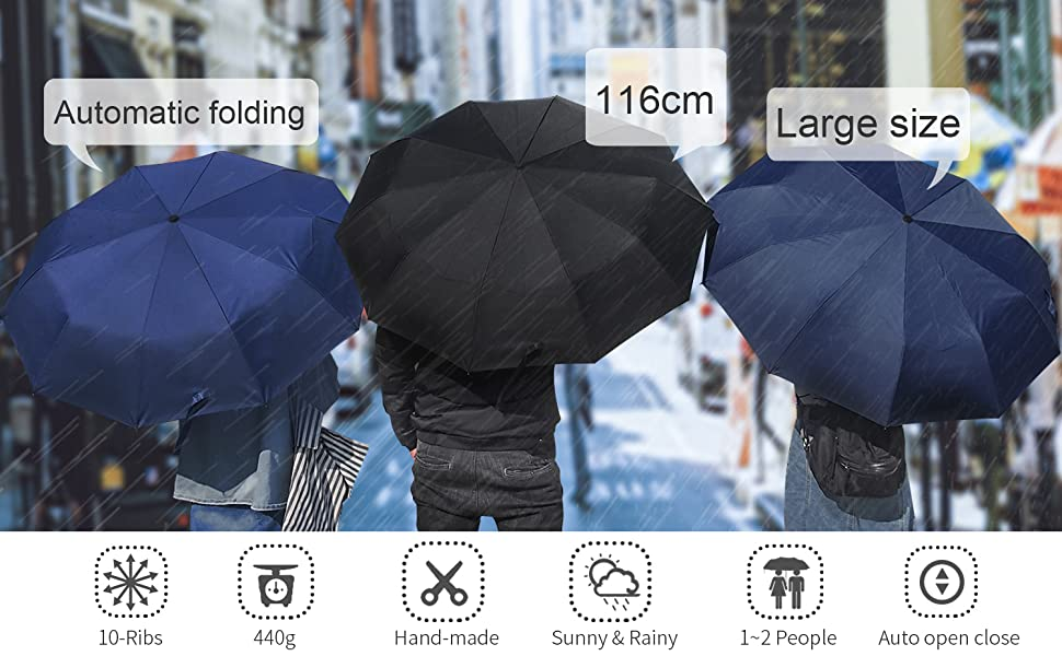 Lightweight Portable Large Size Travel Auto Open Close umbrella