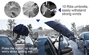 10 Sturdy Ribs Fat Drying Umbrella