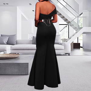 black prom gowns for women