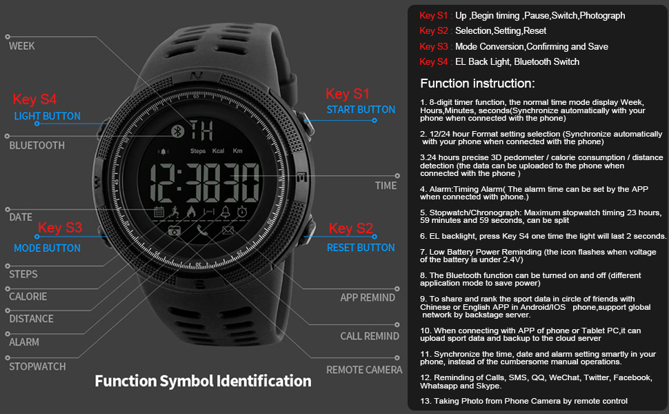 Learned Men Watch North Edge Sport Smart Watches Compass Synchronous Dual Display Waterproof Quartz Digital Clock Military Wristwatch Without Return Watches Digital Watches