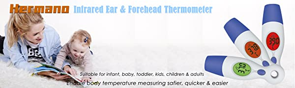 Amazon Com Hermano Digital Infrared Baby Forehead Thermometer With