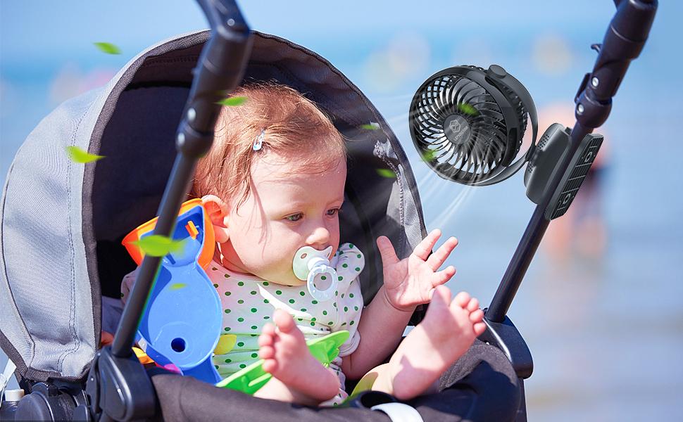 Amazon.com: LEMOISTAR - Ventilador para cochecito de bebé ...